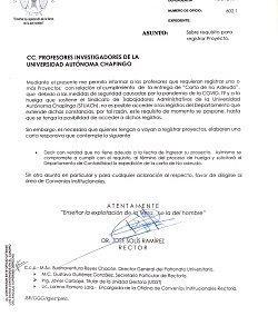 Requisitos para registrar proyectos